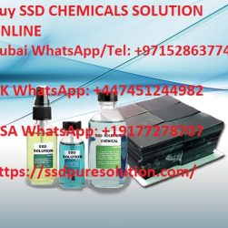 SSD chemicals solution Bottles, blacknotes dollars cleaning samples